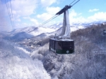 Winter view from the Aerial Tram in Gatlinburg