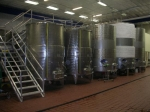Take the tour to learn more about wine making at Hillside Winery