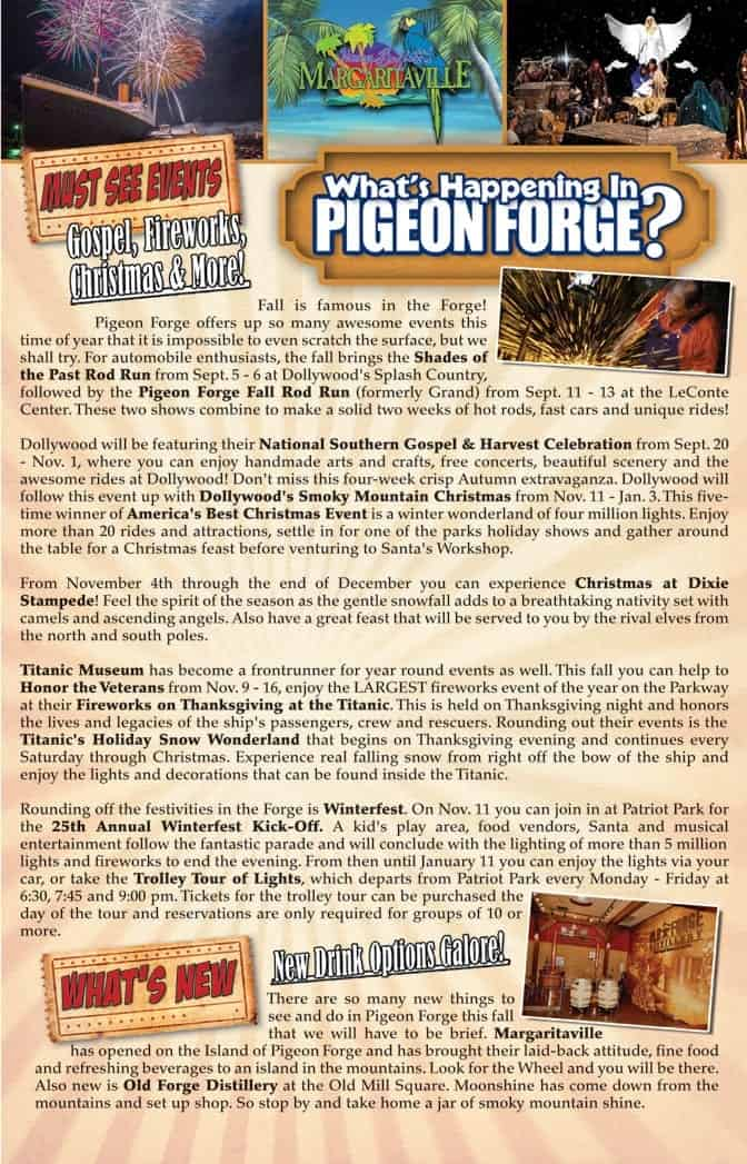 Pigeon Forge Events and What's Happening Fall 2014