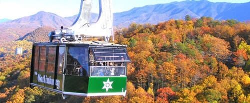 Riding the Aerial Tram in Gatlinburg in the Fall