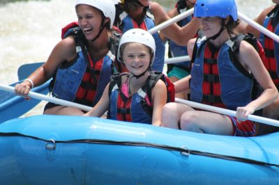 White water rafting with river rat