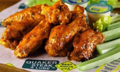 Award winning wings at Quaker Steak