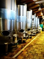 The tanks at Sugarland Cellars Winery in Gatlinburg
