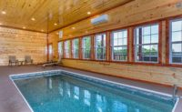 Stay in a cabin with a private pool.