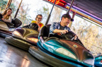 Bumper Car fun with the family at the Track in Pigeon Forge
