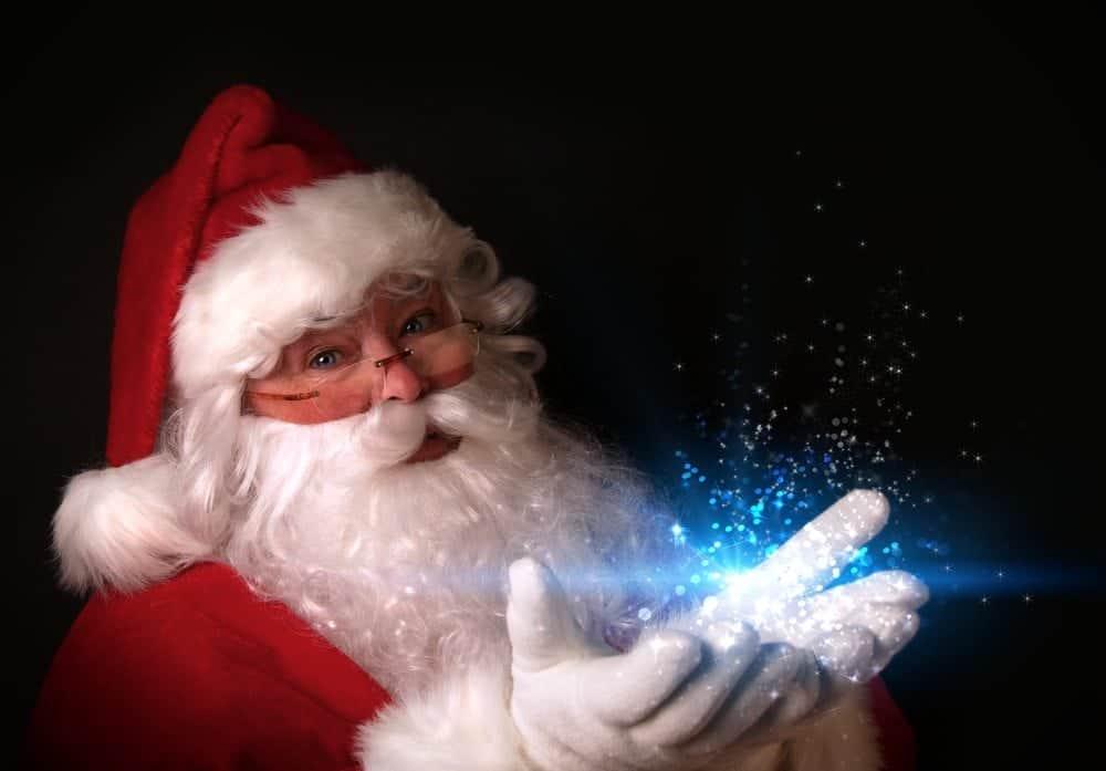 Santa Claus with magic glow