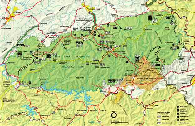 Great Smoky Mountains National Park Map Smoky Mountain Trail Map | Great Smoky Mountains National Park Map Great Smoky Mountains National Park Map