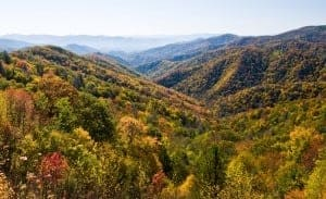 Incredible photo of the Smoky Mountains during the fall.