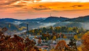 downtown gatlinburg in the fall