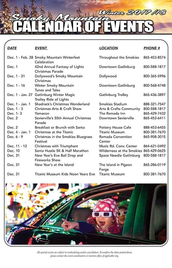 Gatlinburg Calendar Of Events 2020.Pigeon Forge Events Sevierville Events Gatlinburg Events