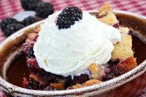 blackberry cobbler at pigeon forge restaurant