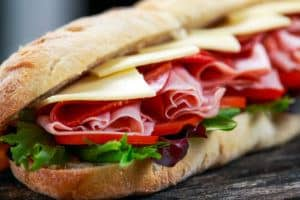 fresh ham and cheese sub