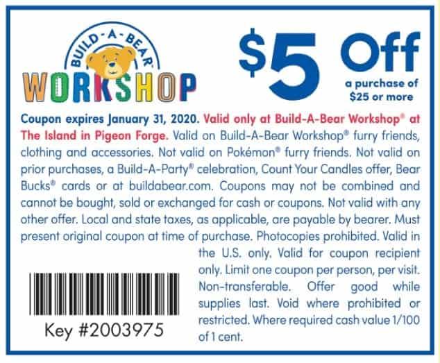 Build a bear coupon