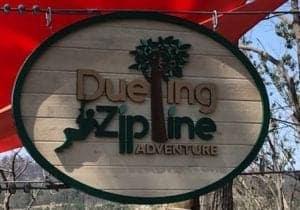 dueling zipline adventure