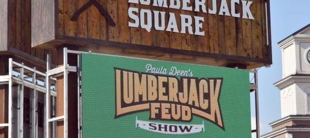 paula deen's lumberjack feud sign