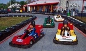 kids driving go karts at nascar speed park
