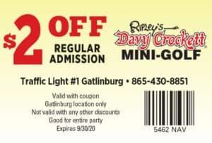 Ripley's Davy Crockett Mini Golf coupon