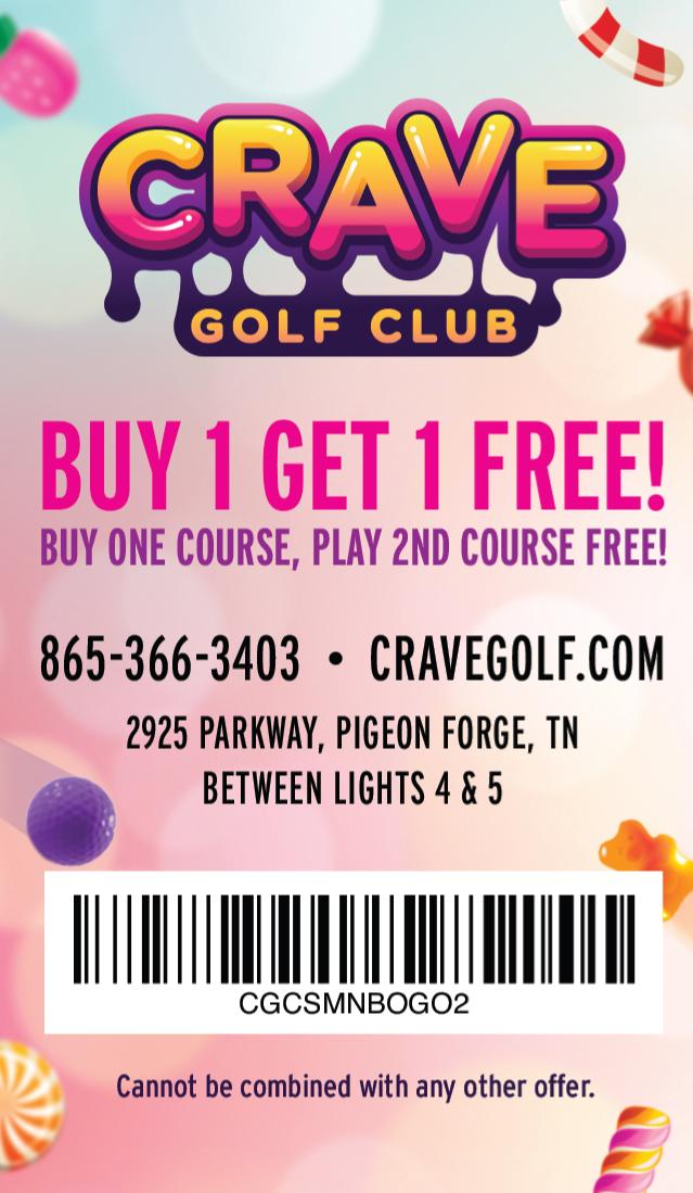 Crave Golf Club coupon