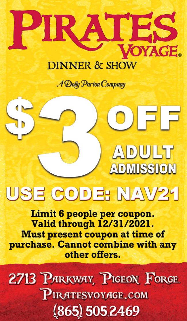 Pirates Voyage Dinner & Show coupon