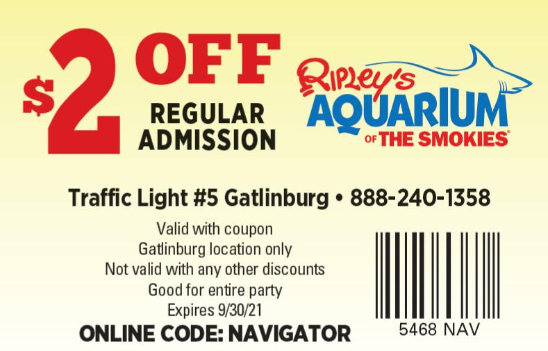 Ripley's Aquarium of the Smokies coupon