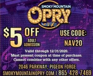 Smoky Mountain Opry coupon
