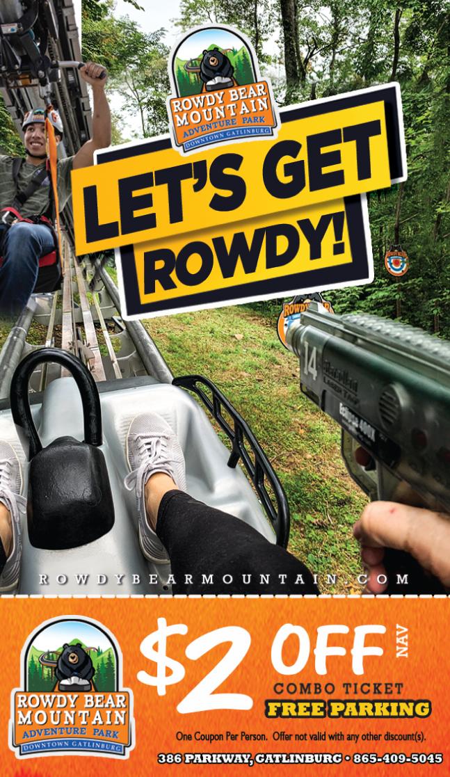 Rowdy Bear Mountain Adventure Park coupon