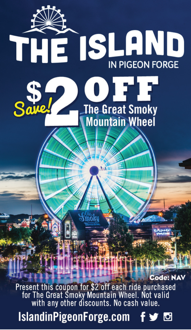 The Island in Pigeon Forge coupon