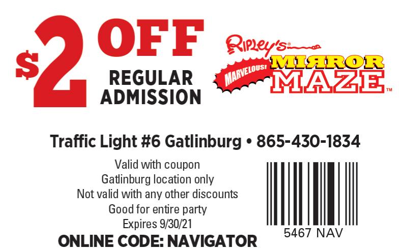 Ripley's Marvelous Mirror Maze coupon