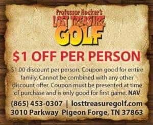 Professor Hacker's Lost Treasure Golf coupon