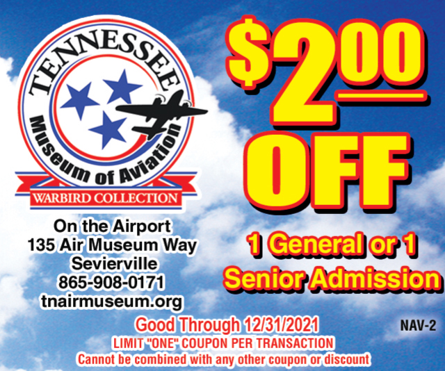 Tennessee Museum of Aviation coupon
