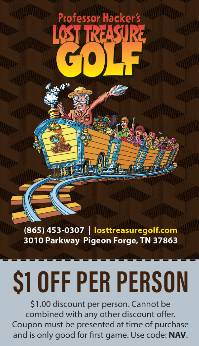 Professor Hacker's Lost Treasure Golf coupon