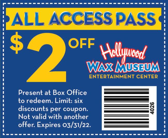 Hollywood Wax Museum coupon