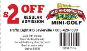 Ripley's Old MacDonald Mini-Golf coupon